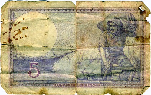 1917 Cinq Francs Note (Front) | by djwudi