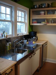 Green Kitchen Accent Walls