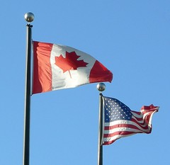 Flags of Canada and the USA | by scazon