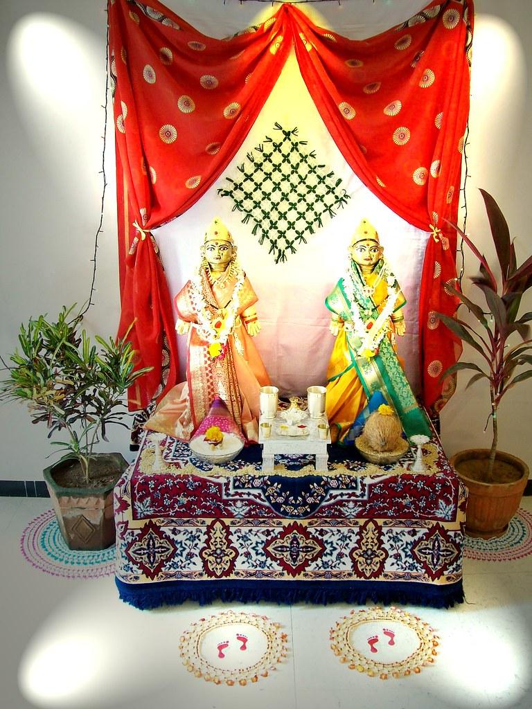 Gauri ganpati decoration ideas at home home decor for Ganpati decorations ideas at home