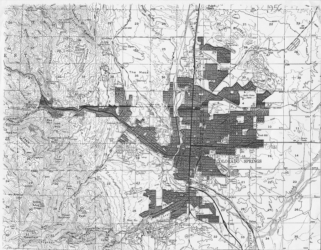 Topographic Map Colorado Springs.Colorado Springs Topographic Map 1956 A Lot Of Changes In Flickr