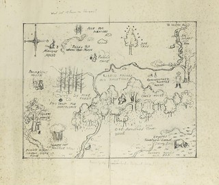 Preparatory Sketch-Map for Endpapers Of Winnie-the-Pooh | by peacay
