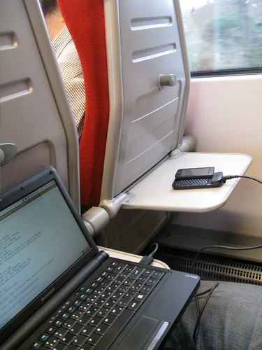Tethered 3G on the train | by Kai Hendry