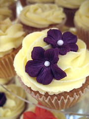 Purple flower cupcake | by monaz