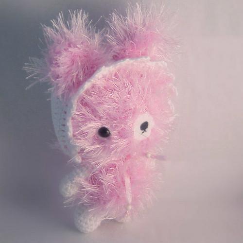 Amigurumi Eyelashes : Amigurumi bunny Made with eyelash and cotton yarn ...