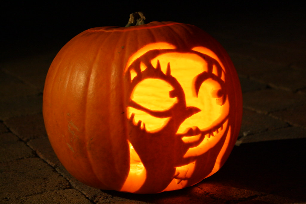 My pumpkin carving of Sally from The Nightmare before Chri… | Flickr