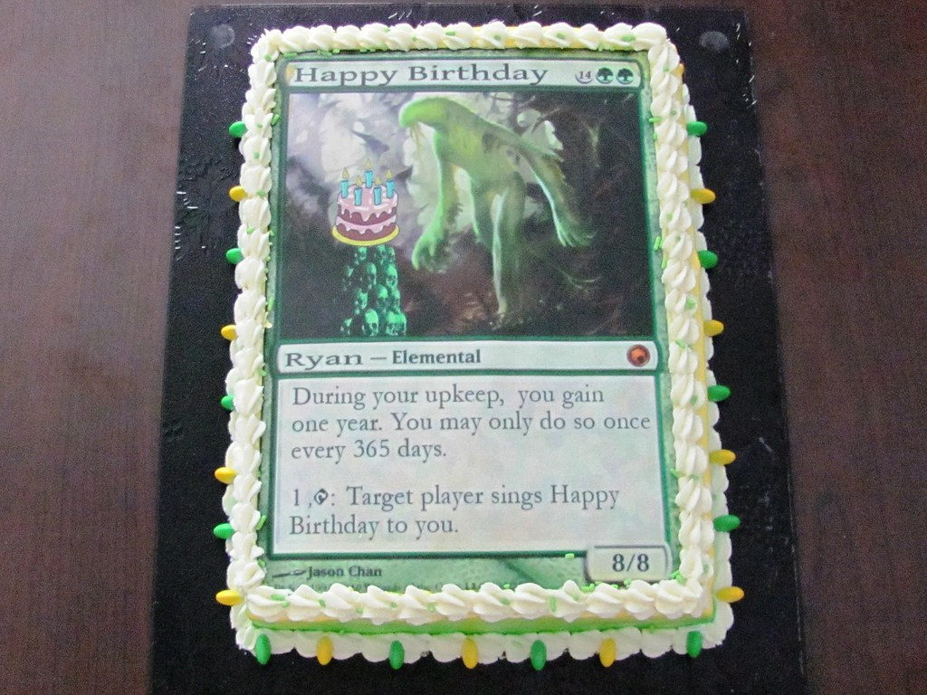 Magic the gathering birthday cake elemental 62011 vanill flickr magic the gathering birthday cake elemental by el cad bookmarktalkfo Image collections