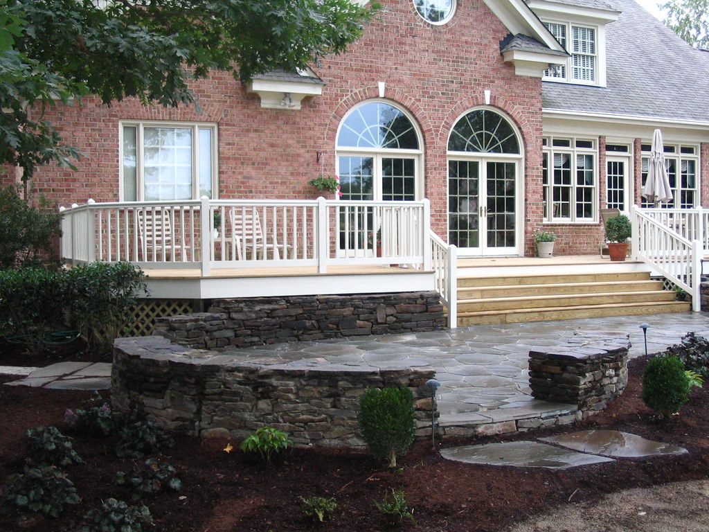 stone patio and new deck Hertzler George Flickr