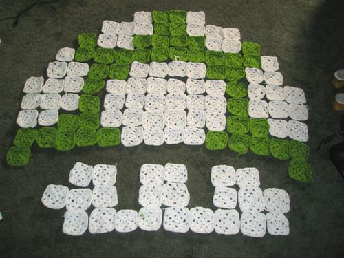 Crochet 1up Mushroom Afghan Progess My In Progress Grann Flickr