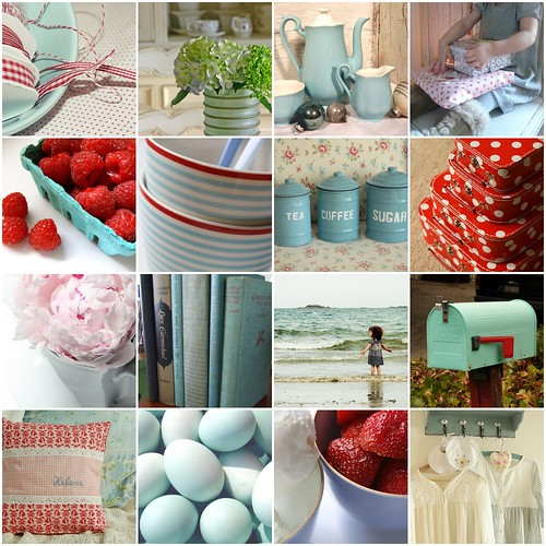 Loving Duck Egg Blue And Red!!