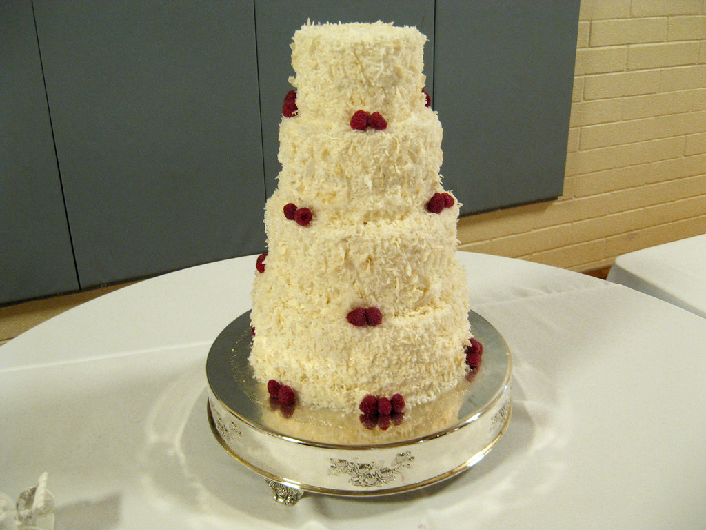 Daniel & Rebekah\'s Wedding Cake | Sour Cream White Cake. Ras… | Flickr
