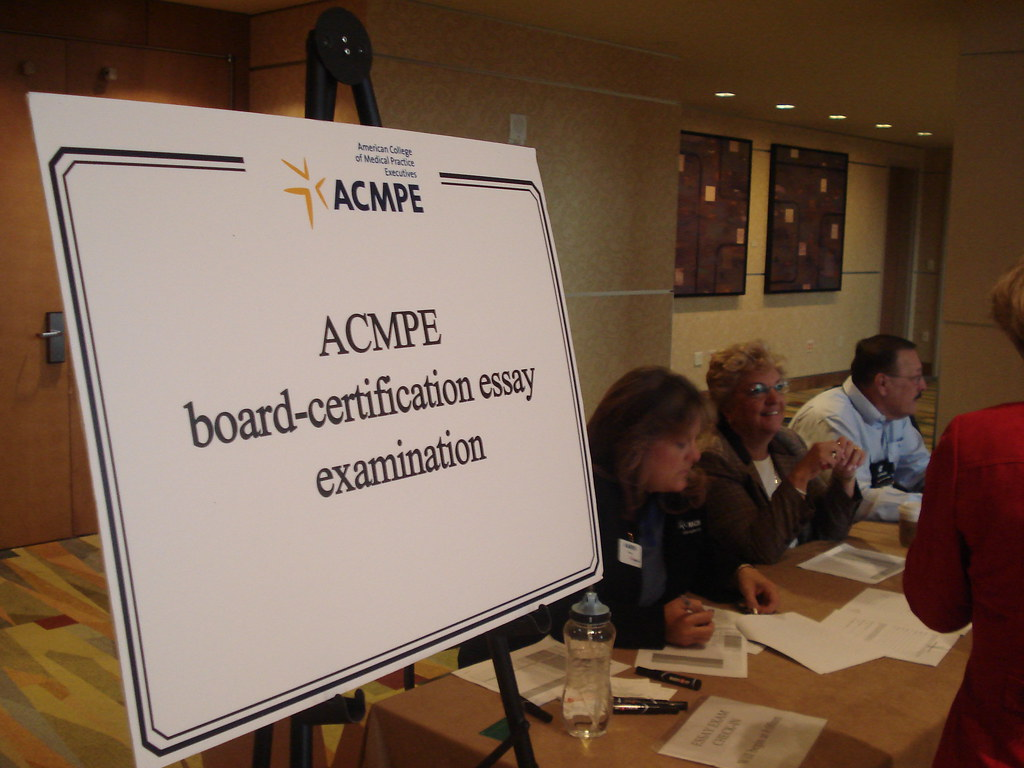 Acmpe Members Signing In To Take Their Exams Medical Group