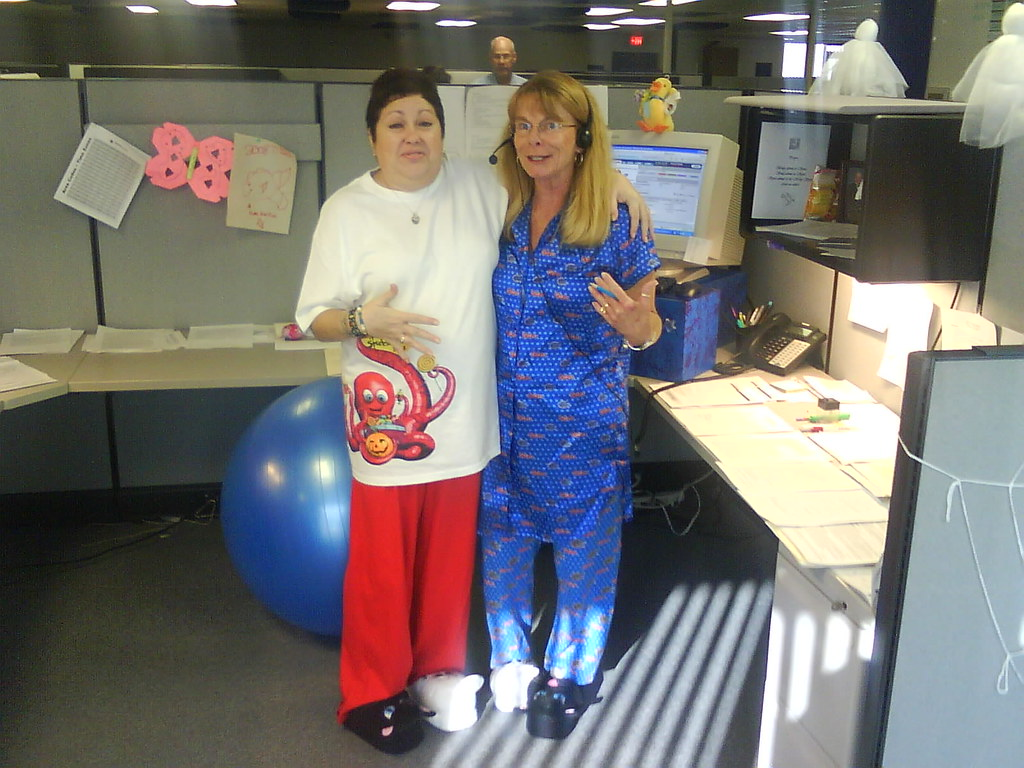 Halloween Pajama Party at Work | Becky and Sharon... and Ste… | Flickr