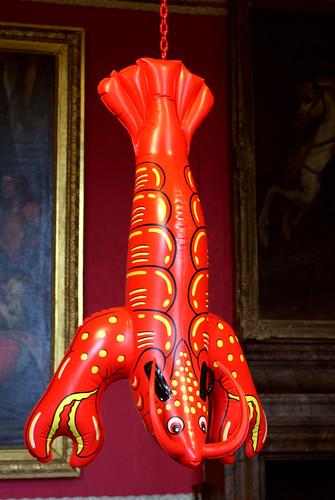 Jeff Koons : Lobster (2003) | Polychrome aluminium. | Flickr