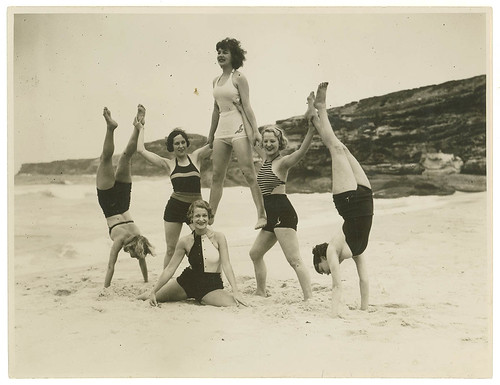 Theatre Royal chorus, Tamarama Beach, ca. 1938 / by Sam Hood | by State Library of New South Wales collection