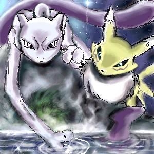 renamon and mewtwo two of my favorite cartoon characters f flickr