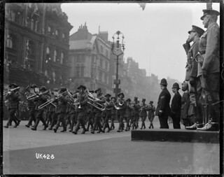The Australian Imperial Forces Band takes the salute in London, May 1919 | by National Library NZ on The Commons