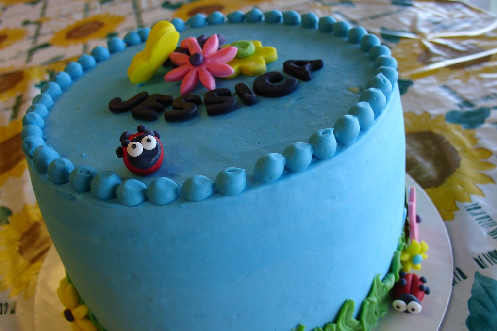 Spring Birthday Cake For A 9 Year Old Girl This Spring Gar Flickr