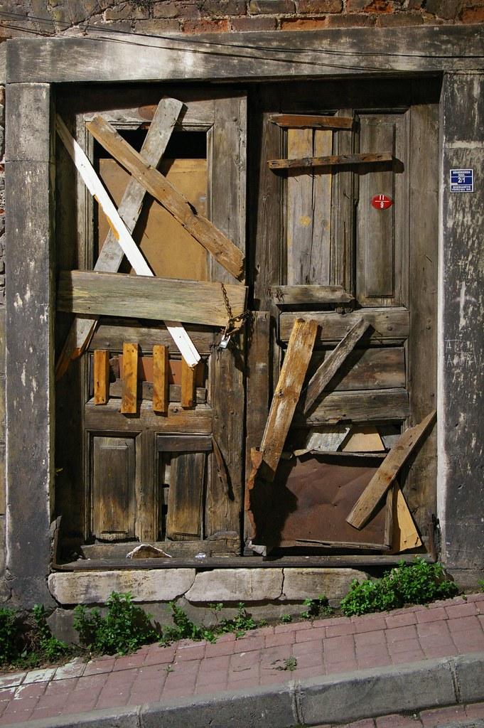 Barricaded door | by Andrea Kirkby Barricaded door | by Andrea Kirkby & Barricaded door | Andrea Kirkby | Flickr