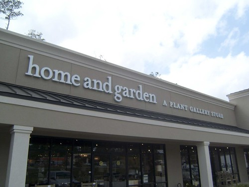 home and garden a plant gallery store channel letters