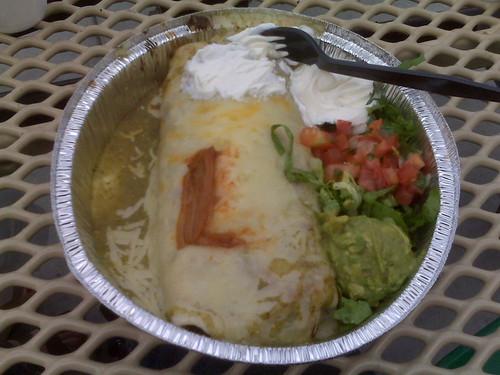 Cafe Rio Barbacoa Burrito