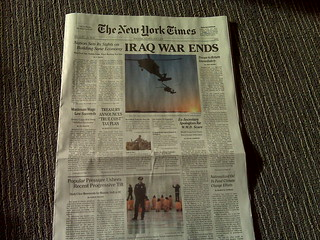 Fake July 4, 2009 New York Times being handed out on the street. Very well done | by fredwilson