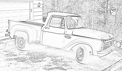 Old Ford Pickup Pencil Sketch Free Sketch At Www Dumpr