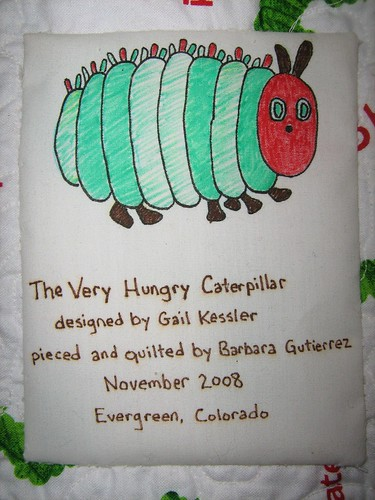 Caterpillar quilt label | by oddharmonic