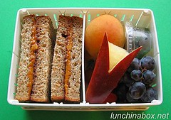 PBJ sandwich bento lunch for live TV shoot | by Biggie*