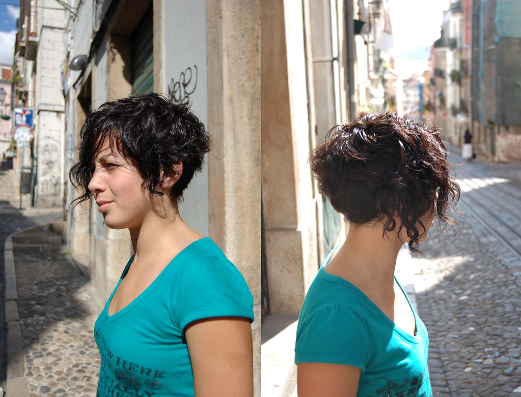 haircut short curly | carla our assistant, haircut by inês, … | flickr