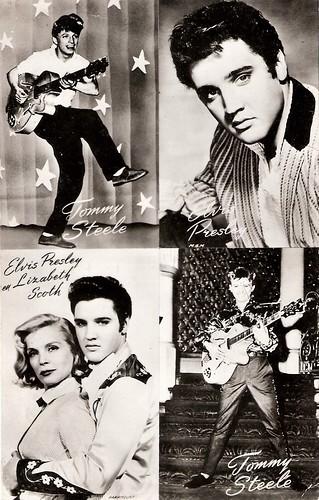 Tommy Steele, Elvis Presley, Lizabeth Scott