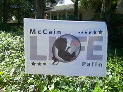 McCain Fetus Flag Sign (Not a Joke) | by Lindsay Beyerstein