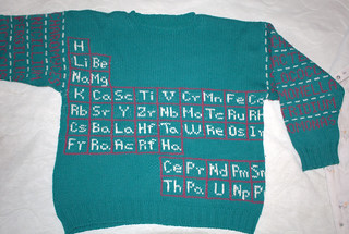 Periodic Table Sweater | by Avital Pinnick