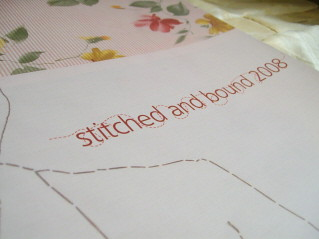 stitched and bound catalogue | by drawing words
