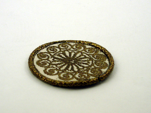 Tarnished Gold Embossed Polymer Clay | by CraftyGoat