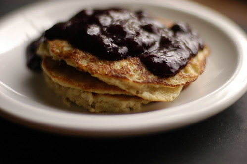 oatmeal pancakes with blueberry compote | by shauna | glutenfreegirl