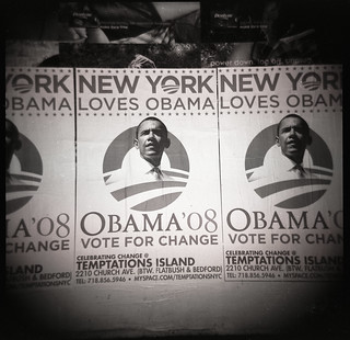 Obama Posters on Election Night, Chelsea NYC 2008 | by CS Muncy