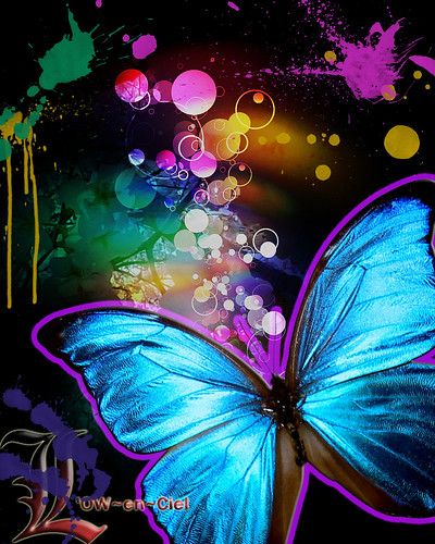 Abstract Butterfly Watermark