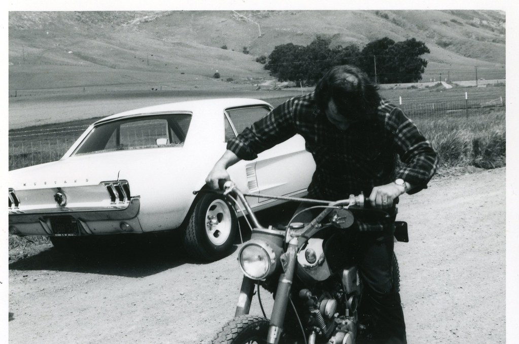 ... Ford Mustang And Old Honda   San Luis Obispo, California   1975 | By  Bcgreeneiv