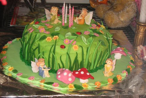 Fairy Garden cake | The cake I baked for Bianca\'s 6th birthd… | Flickr