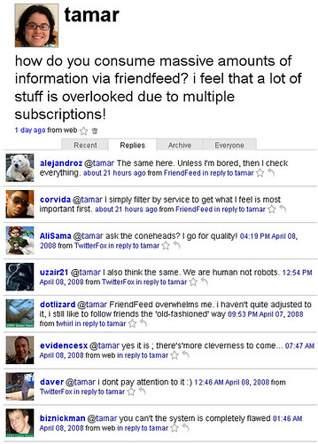 What Twitter Users Think of FriendFeed | by Tamar Weinberg