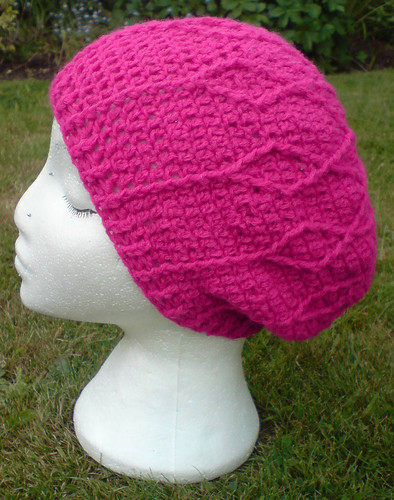 Pink cabled slouchy | by tsukismama