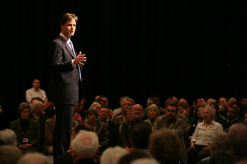 Nick Clegg speaking at the rally at Lib Dem Spring conference, Liverpool 2008 | by Liberal Democrats