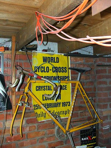 my old cyclo x bike hanging up in garage | by Alan P Jones