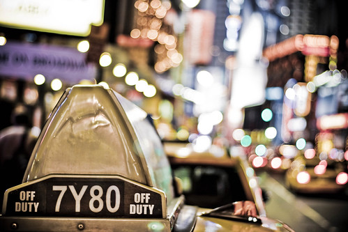 Taxi light in colors, Times Square @ New York City, USA | by °Doudou°