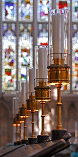 UK - Somerset - Bath Abbey - Choirstall lamps - panoramic | by Darrell Godliman