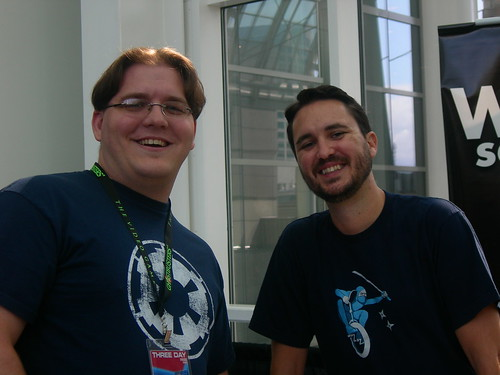 Me with Wil Wheaton | by Patrick Kovacich