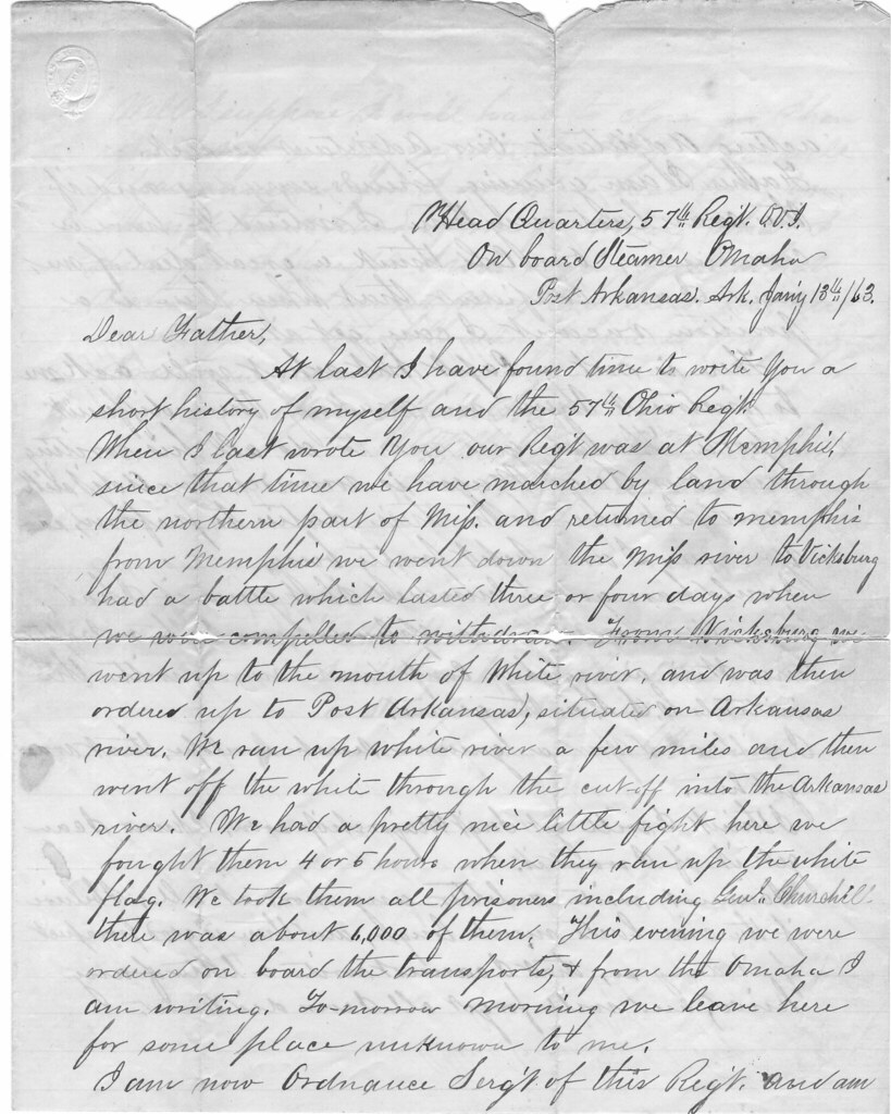 civil war soldiers letter to father january 1863 by cabay