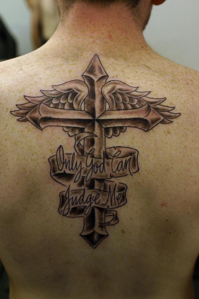 Cross N Wings Tattoo Wwwfacebookcomflamingarttattoo Flaming