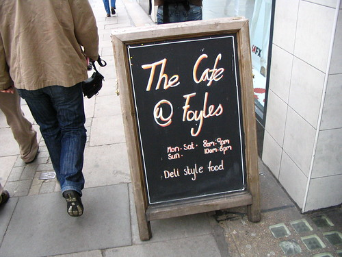 The Café at Foyles | by box of lettuce